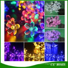 Énergie solaire Fée Cordes Lumières 20/30/50 LED Peach Blossom Décoratif Jardin Pelouse Patio De Noël Arbres Fête De Mariage Lumières