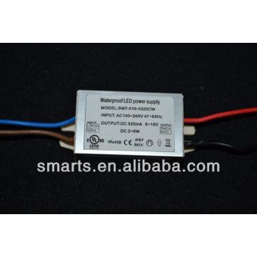 Одобренный UL светодиодный драйвер 320 ма 2~6 Вт