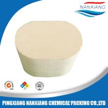 Cordierite ceramic honeycomb for catalyst