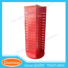 Red color 360 degrees rotating display accessories rack