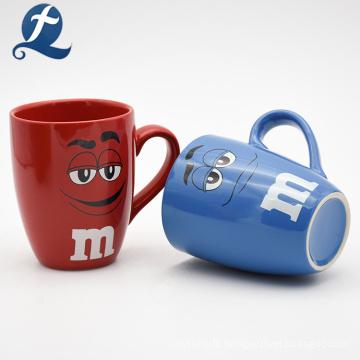 Eco Friendly Custom Design Drinking Water Cup Ceramic Cartoon Mug