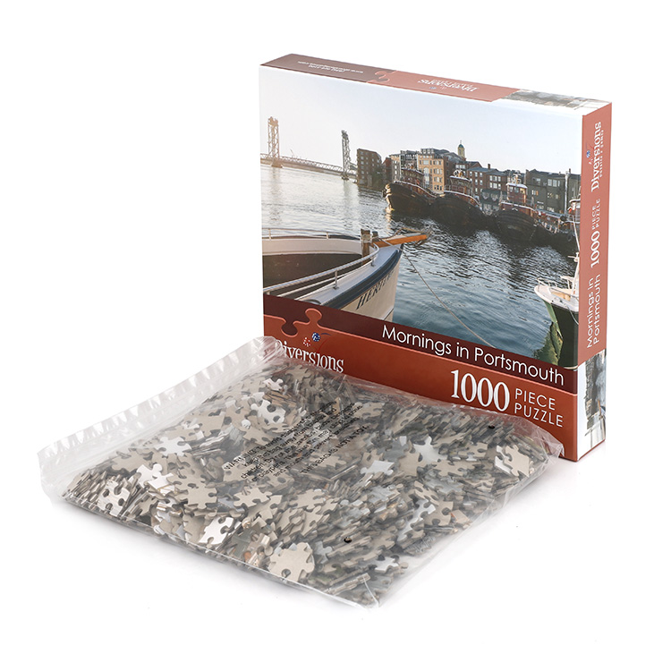 China Factory Wholesale Custom logo printed 1000 mini piece jigsaw puzzle for adult