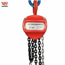 Vohoboo 1ton 2ton 5ton 10ton 30ton cadena de acero manual polipasto