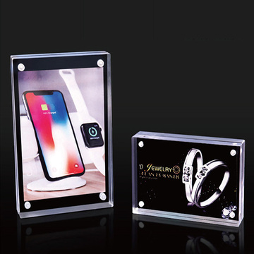 Magnetic clear acrylic photo frame picture holder