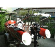 CE certificado rib390 de fibra de vidro rígida casco barco inflável