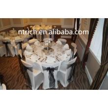 100 % Polyester weißes Tischtuch für verschiedene Anlässe, weiße Visum Tischdecke