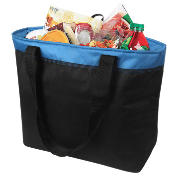Canvas Shopping Cooler Bag avec conteneur alimentaire