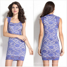2015 Slim Fitting Floral Lace Bodycon Party Dress (50138)