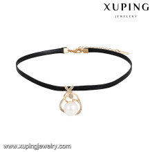 44043 xuping custom jewelry wholesalers in China popular pearl 18k gold pendant necklace with promotion price