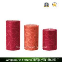 Bougie parfumée au pied de Crackle à la main pour décoration à la main