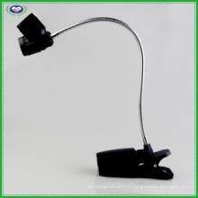 Lumière de clip BBQ avec double tournevis à 360 °