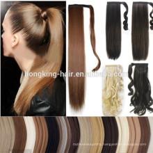 Factory price magic tape human hair ponytail for reseller