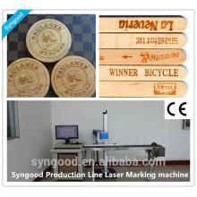 Ligne de production de la machine de marquage au laser de glace naturelle en bois naturel Syngood