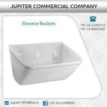Strong White Plastic Elevator Bucket Available at Reasonable Market Price