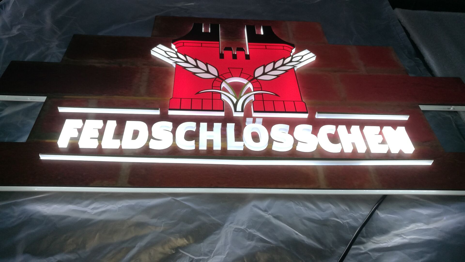 3D RAISED light sign