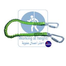 Protection contre les chutes Serrure à mousqueton avec cordon d'attache à outils pour la sécurité de la bobine