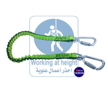 Fall Protection Carabiner Lock With Tool Tether Lanyard For Coil Safety