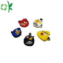 Cartoon Angry-bird siliconen tennisracket trillingsdemper