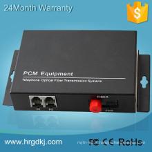 Multiplexador de vídeo digital de 2 canais com conversor de linha telefônica fxo para fxs