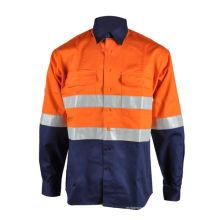 Camisa da segurança do trabalho do vison do franco do algodão olá!
