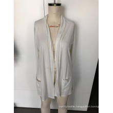 Knit cardigan with long sleeves
