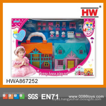 Indoor Play Set Plastic Beauty Toy Castle for Kids
