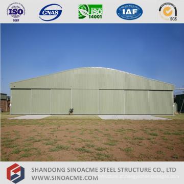 Hangar de aeronaves pré-projetado de estrutura de aço