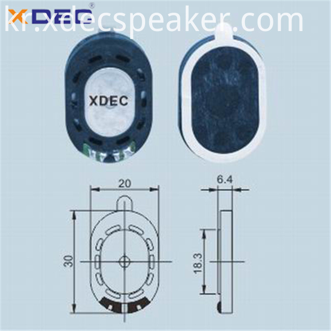 Xdec 2030 8ohm speaker for digital photo frame