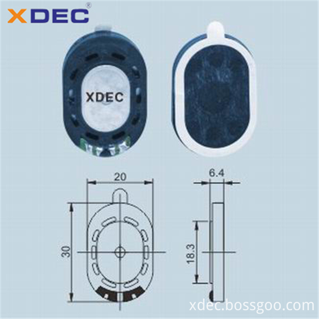 Xdec 2030 8ohm speaker for digital photo frame
