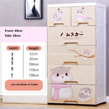 Cartoon Multi-layer Drawer Baby Storage Drawer Cabinet
