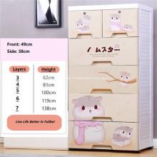 Gabinete de gaveta de armazenamento de bebê com gaveta multicamadas cartoon