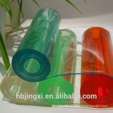 Rolo transparente macio da folha do PVC de cristal