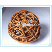 Stylish Cheap Ball Curtain Finial Rattan Cane Curtain Rod End Caps