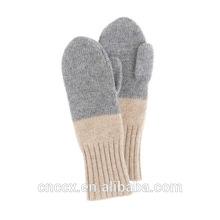 15GLV5008 color block cashmere mittens