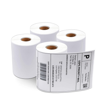 Blank Direct Thermal Packaging Label Roll 4x6 Aufkleber