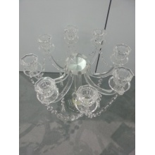 Porte-bougie en cristal neuf pour décoration de mariage