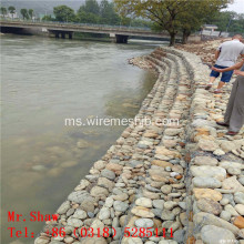 Gabungan Box Gabion Riverbank Hot Dipped
