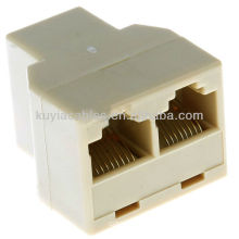 RJ 45 Ethernet Network Splitter Coupler Connector Allow two computers to share high speed DSL, cable modem and Ethernet ports
