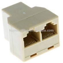 Разъем RJ 45 Ethernet Network Splitter Coupler Позволяет двум компьютерам совместно использовать высокоскоростные DSL, кабельный модем и Ethernet-порты
