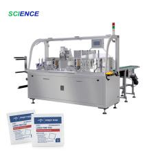 Machine à emballer de sac de tissu humide de tampon d'alcool