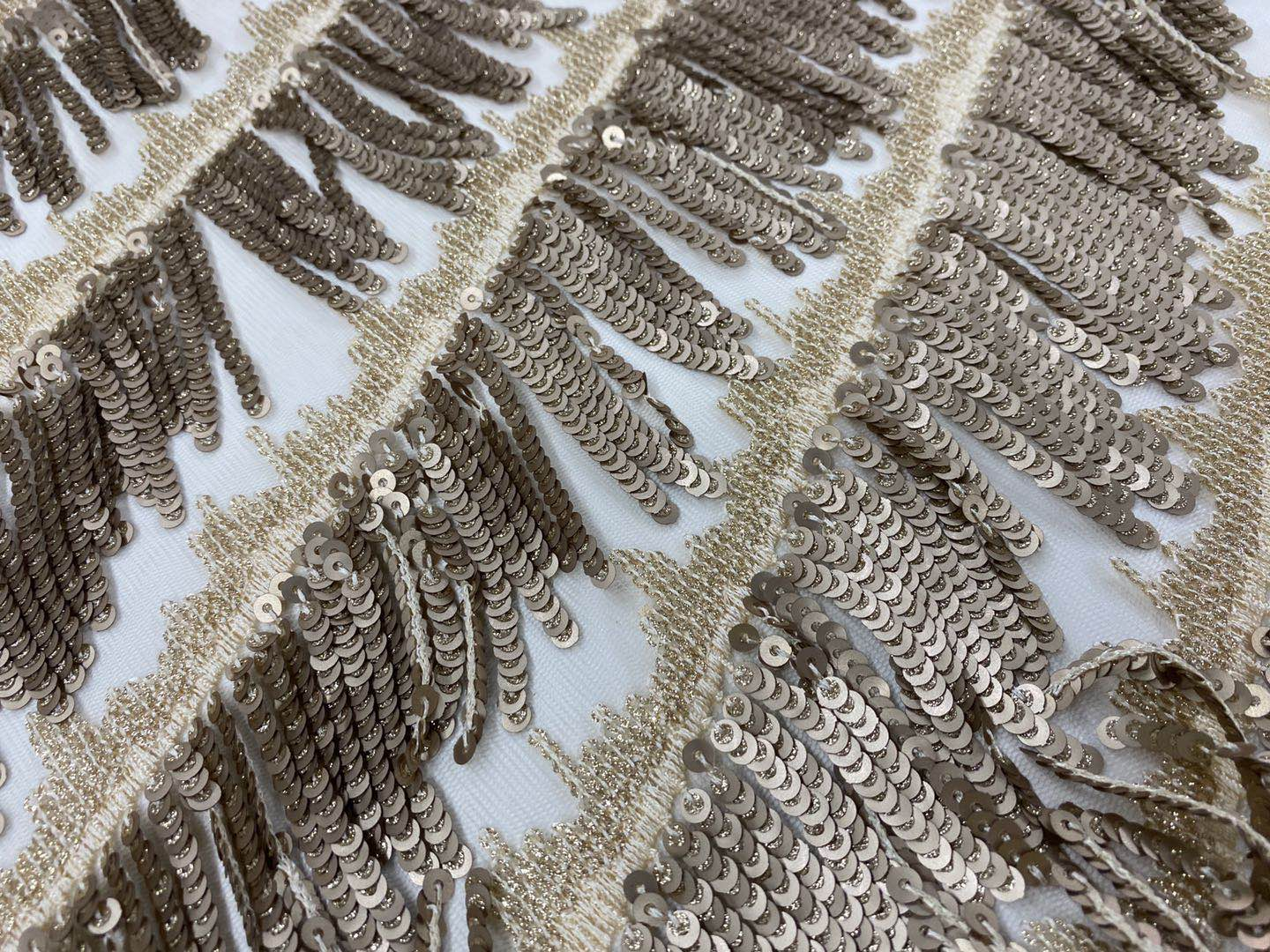 Glitter Sequin Embroidery Fabric