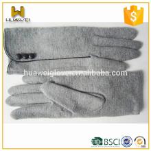 70% de laine, 30% de nylon Gants de laine pour dames ou Gants de laine en tissu sur mesure