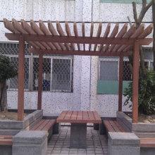 Pergola WPC composto Camtpm no projeto de jardinagem de área de lazer