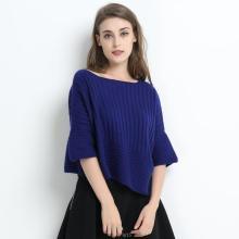 Las mujeres de color azul de gran tamaño Pure Cashmere Apprael