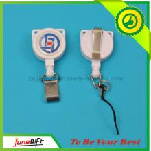 Heiße Verkaufs-einziehbare Abzeichen-Rolle mit Metallclip