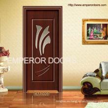 Caliente del Fashional acero madera Interior puerta