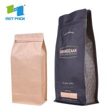 Fabricant de la Chine Sacs en papier kraft doublés de papier d'aluminium biodégradables, sac de nourriture en papier d'aluminium kraft