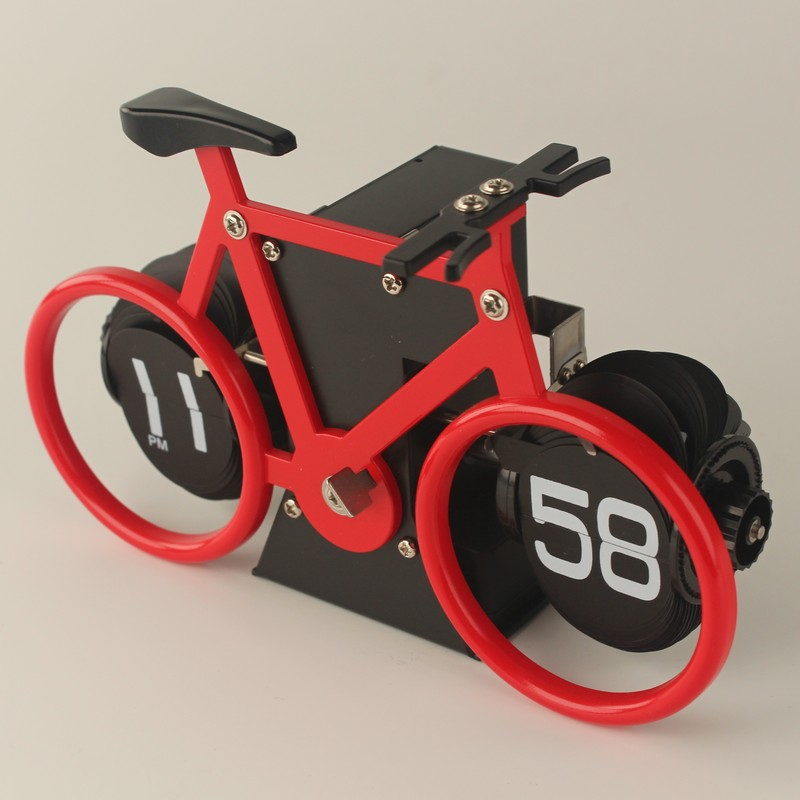 Bicycle Clock With Font