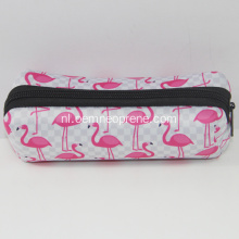 Stijlvolle Flamingo Custom Neopreen Pencil Bags