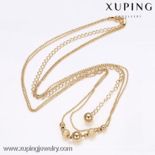 42062-Xuping Fashion18k chapado en oro collar de cadena larga